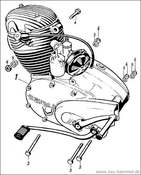 Motor NSU 4 Takt Fox Original NSU Ersatzteileliste Seite 3
