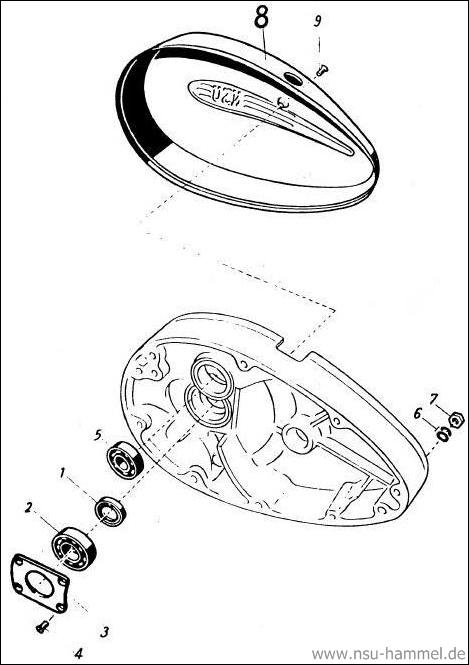 Kurbelgehäuse NSU 4 Takt Fox Original NSU Ersatzteileliste Seite 7