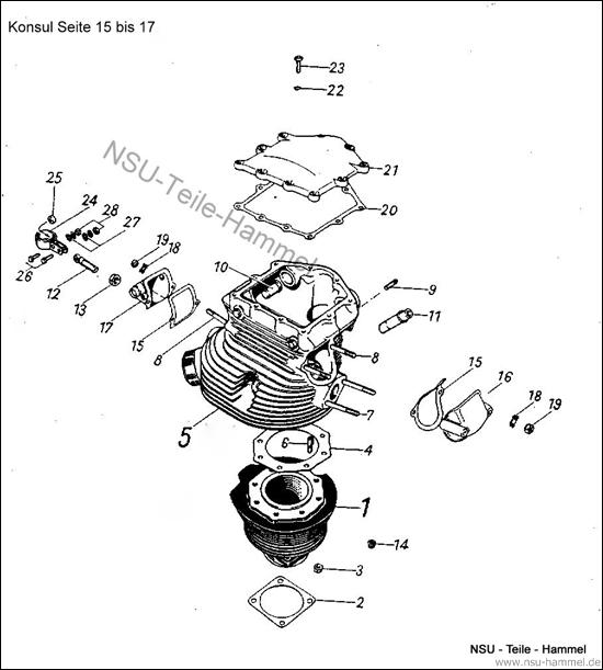 Konsul Original NSU Ersatzteileliste Seite 15-17