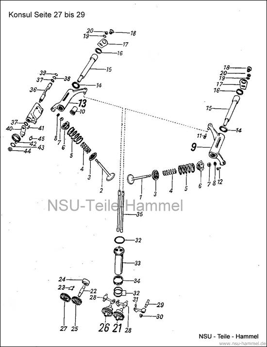 Konsul Original NSU Ersatzteileliste Seite 27-29