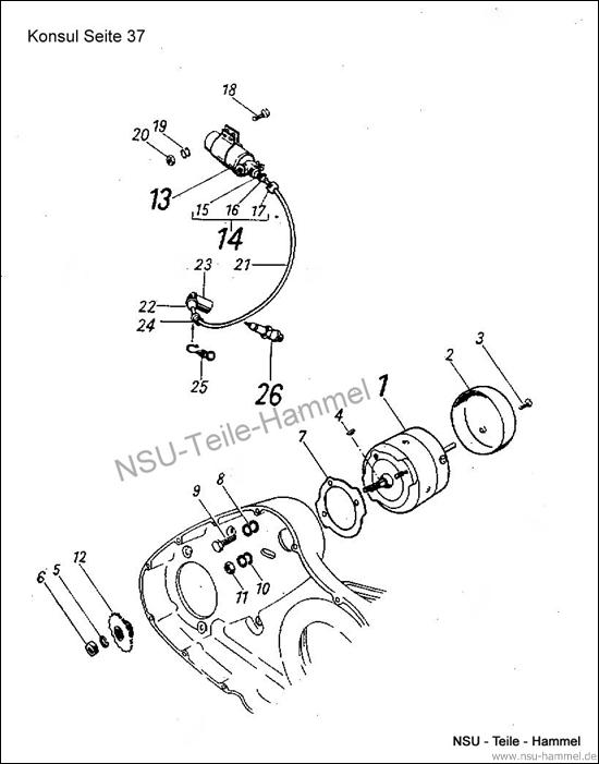 <h3>Original NSU Ersatzteileliste Seite 37-41</h3>