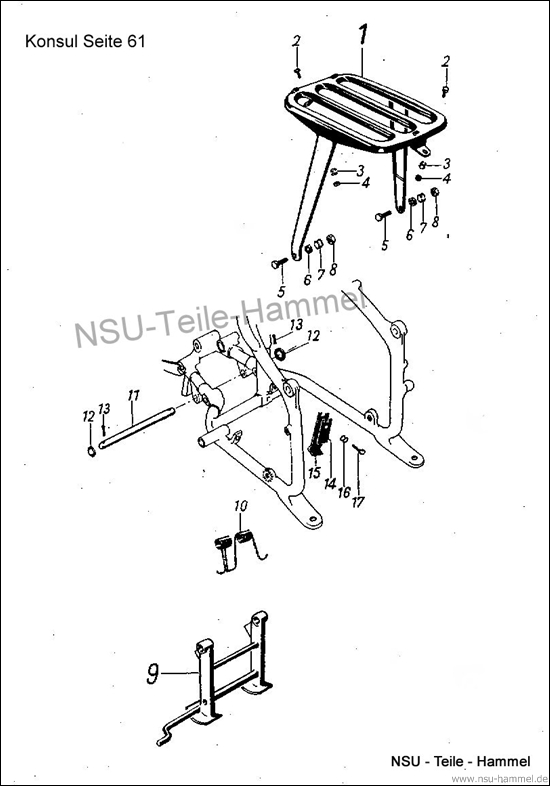 Konsul Original NSU Ersatzteileliste Seite 61