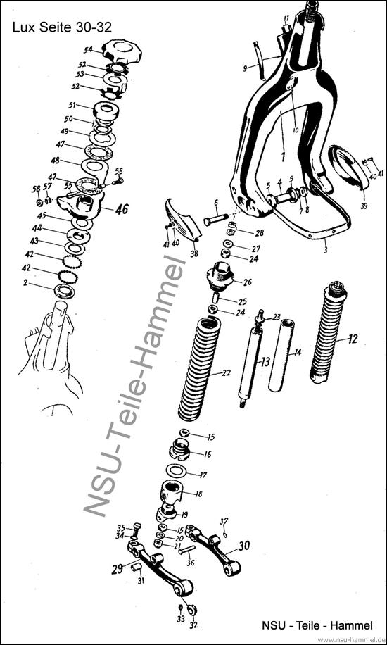 Lux-Superlux Original NSU Ersatzteileliste Seite 30-32