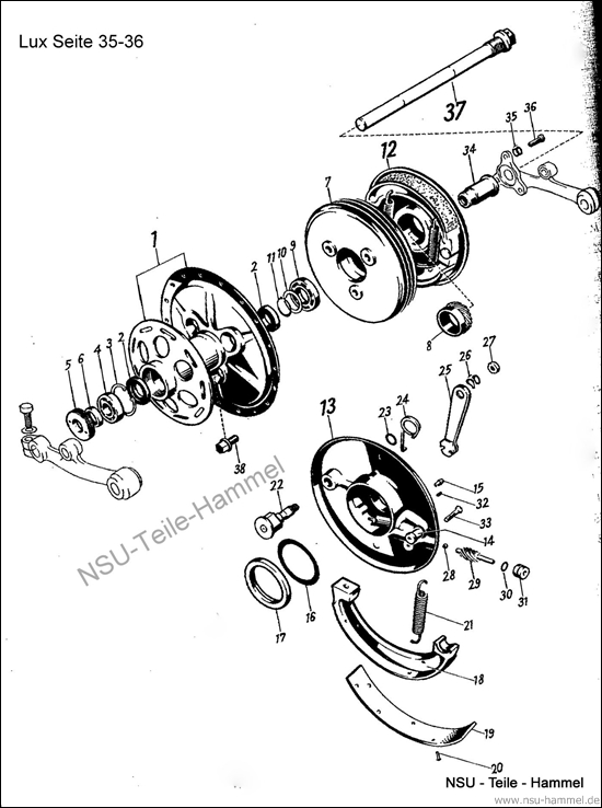 Lux-Superlux Original NSU Ersatzteileliste Seite 35-36