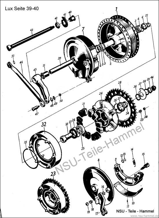 Superlux Original NSU Ersatzteileliste Seite 39-40