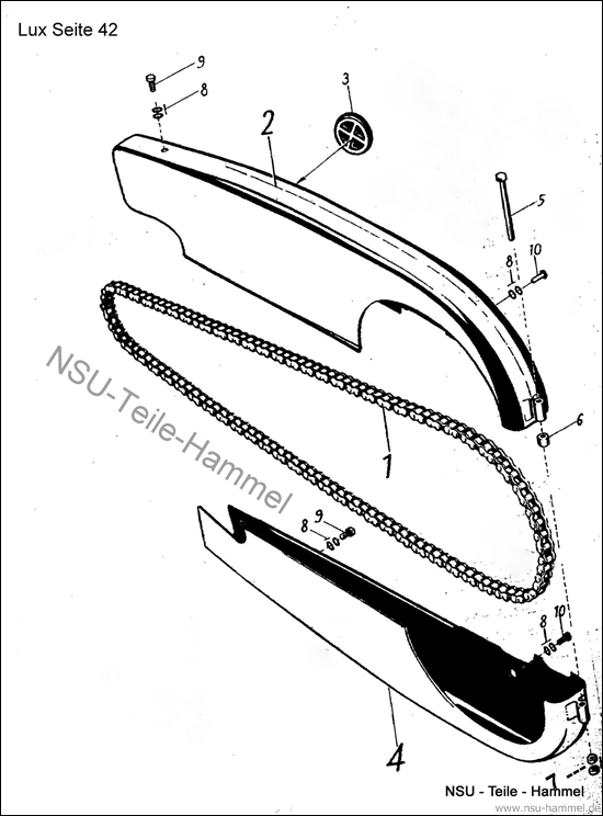 Lux-Superlux Original NSU Ersatzteileliste Seite 42
