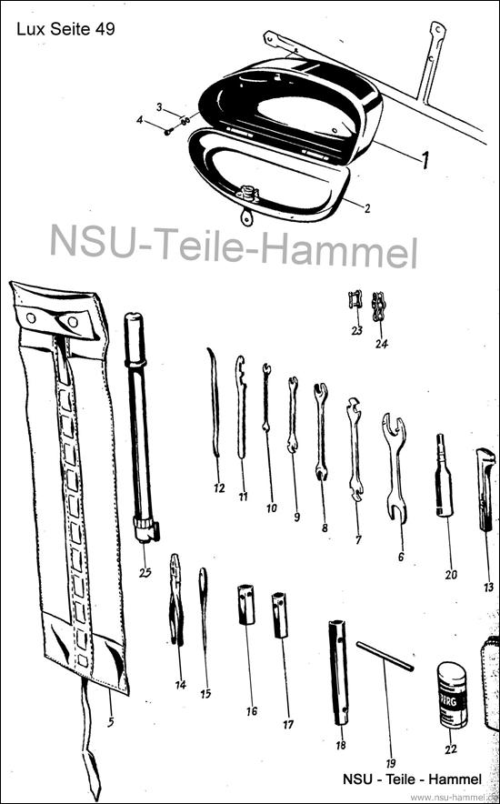 Lux-Superlux Original NSU Ersatzteileliste Seite 49