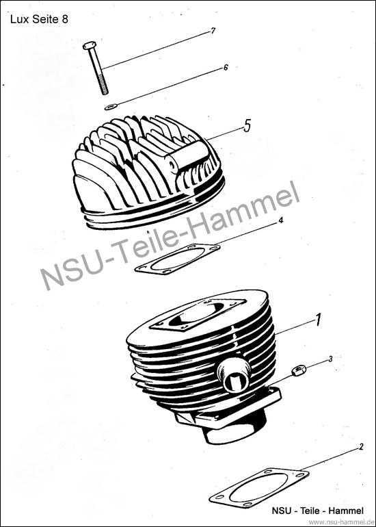 Lux-Superlux Original NSU Ersatzteileliste Seite 8