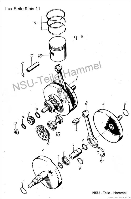 Lux-Superlux Original NSU Ersatzteileliste Seite 9-11