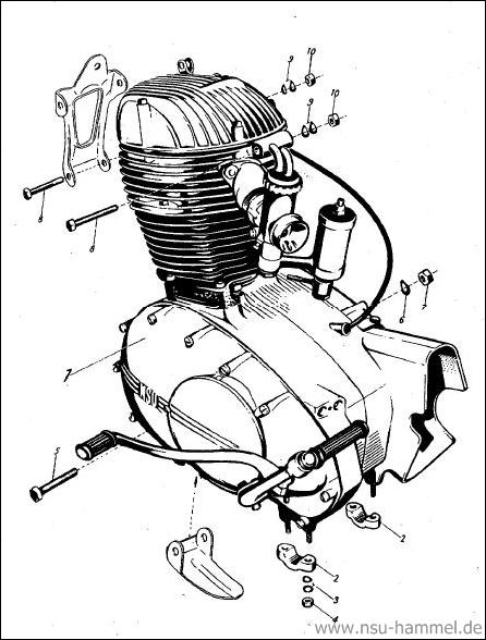 Motor NSU Max Original NSU Ersatzteileliste Seite 1