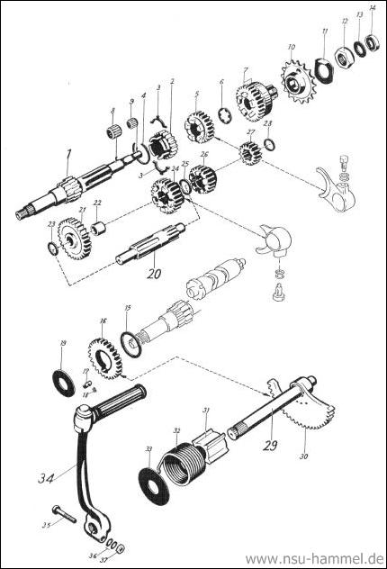 Getriebe NSU Max Original NSU Ersatzteileliste Seite 14
