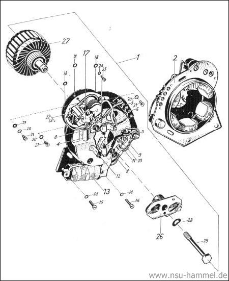 Elektrische Ausrüstung NSU Max Original NSU Ersatzteileliste Seite 19-20