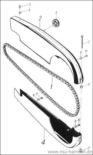 Kettenantrieb NSU Max Original NSU Ersatzteileliste Seite 36