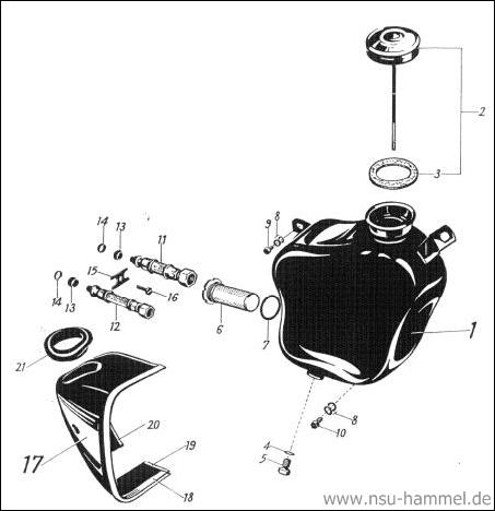 Ölbehälter NSU Max Original NSU Ersatzteileliste Seite 39