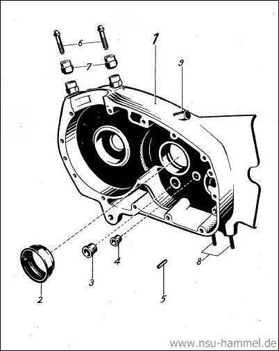 Kurbelgehäuse NSU Max Original NSU Ersatzteileliste Seite 4