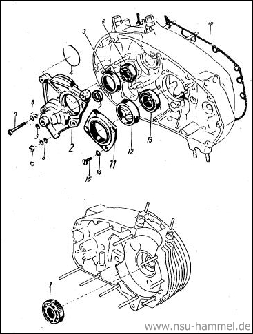 Kurbelgehäuse NSU Max Original NSU Ersatzteileliste Seite 5