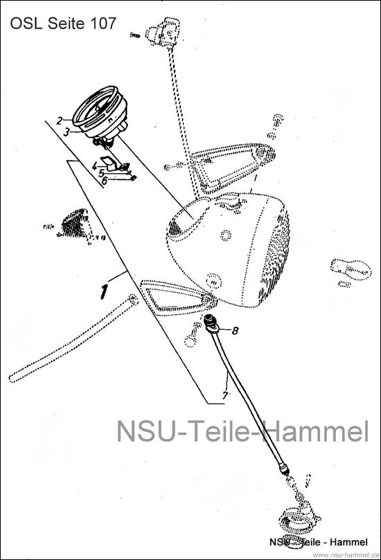 OSL-251 Original NSU Ersatzteileliste Seite 107