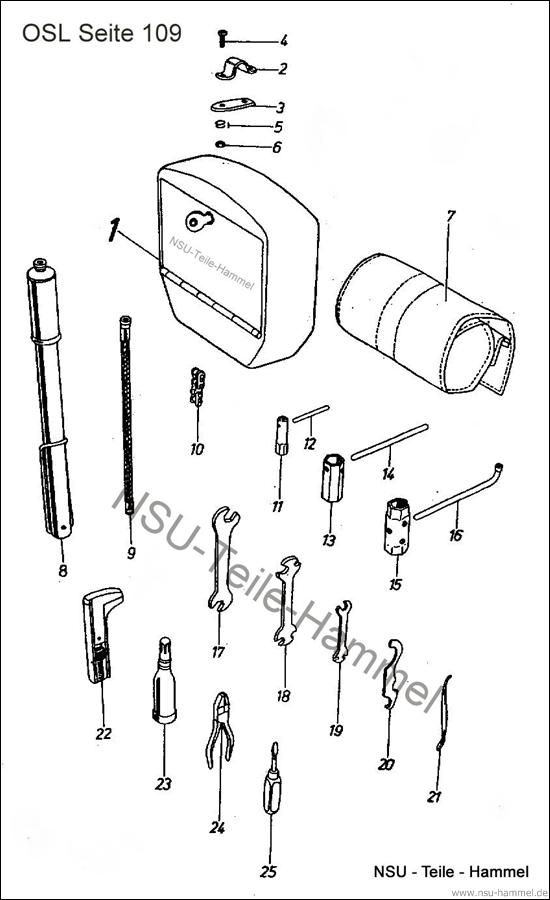OSL-251 Original NSU Ersatzteileliste Seite 109