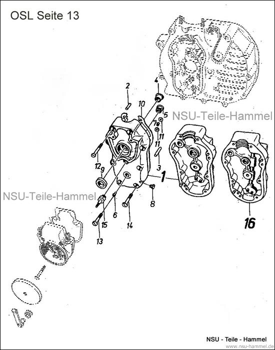 OSL-251 Original NSU Ersatzteileliste Seite 13