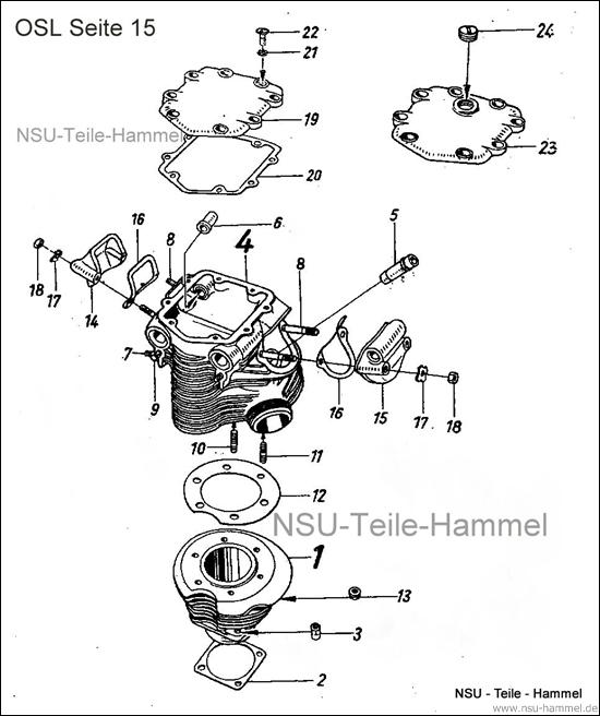 OSL-251 Original NSU Ersatzteileliste Seite 15