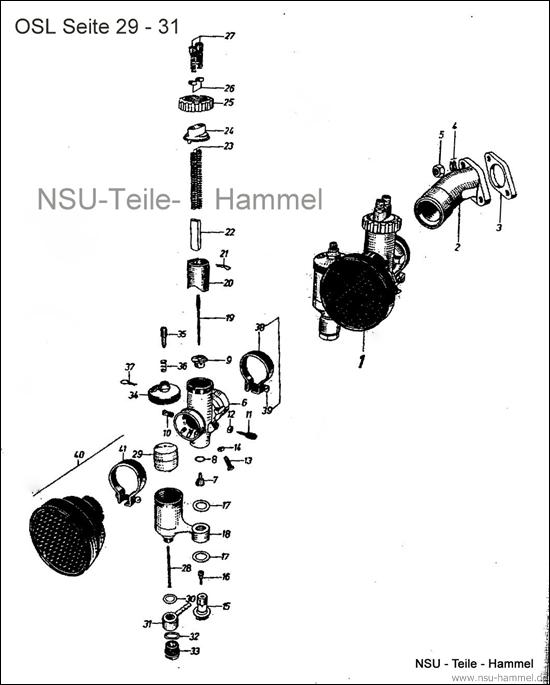 OSL-251 Original NSU Ersatzteileliste Seite 29-31