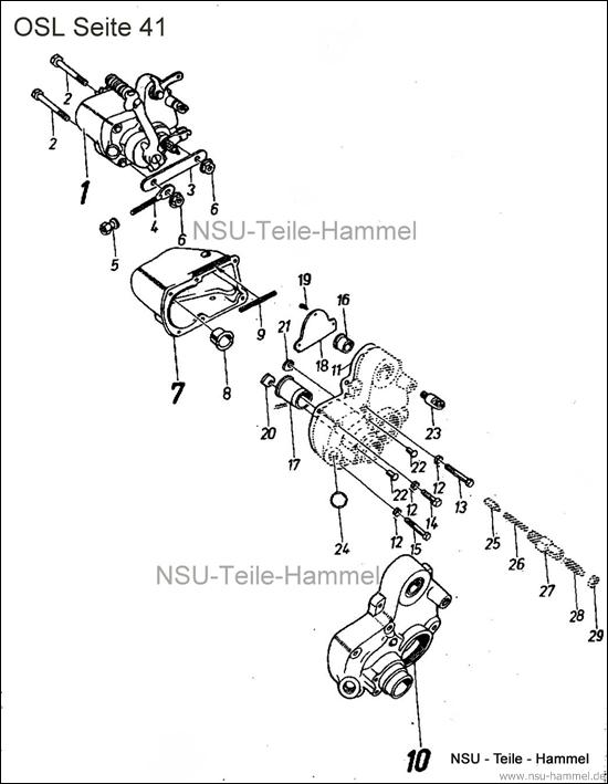 OSL-251 Original NSU Ersatzteileliste Seite 41
