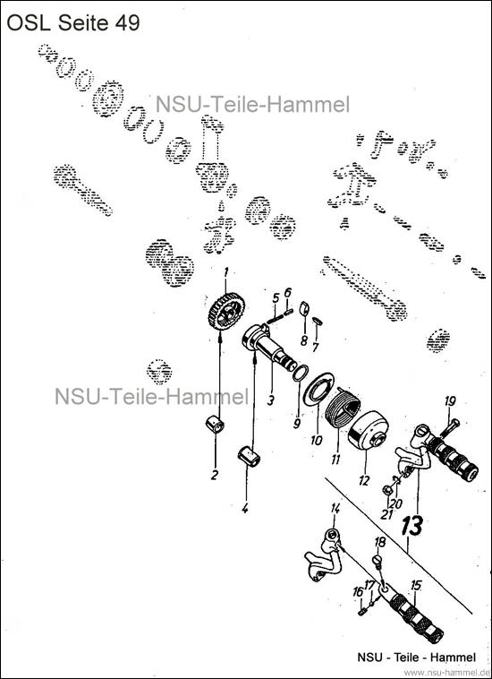 OSL-251 Original NSU Ersatzteileliste Seite 49