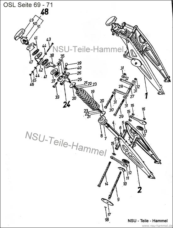 OSL-251 Original NSU Ersatzteileliste Seite 69-71