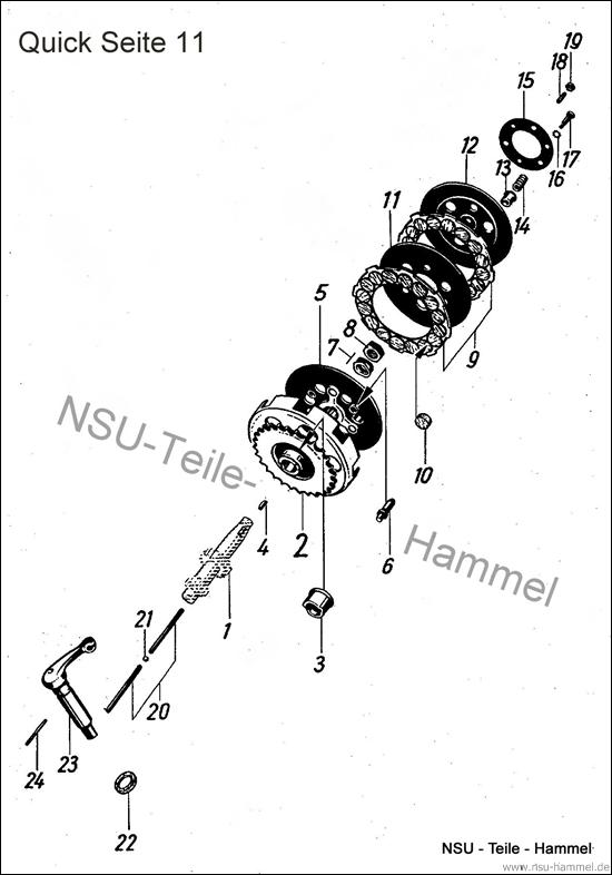 Kupplung NSU Quick Original NSU Ersatzteileliste Seite 11
