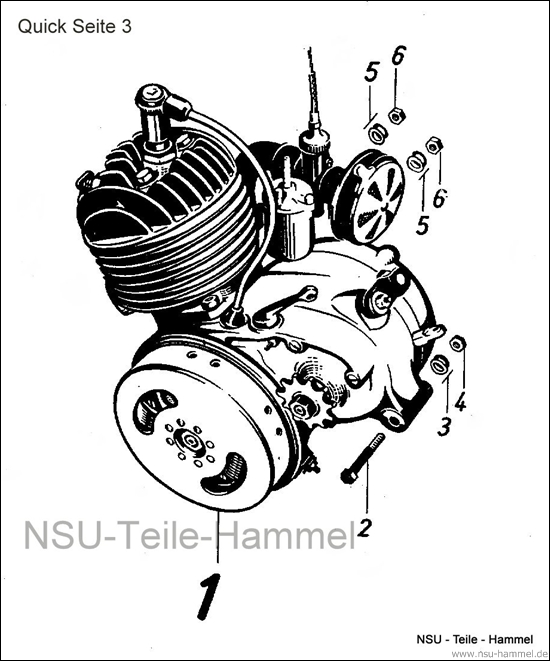 Motor NSU Quick Original NSU Ersatzteileliste Seite 3