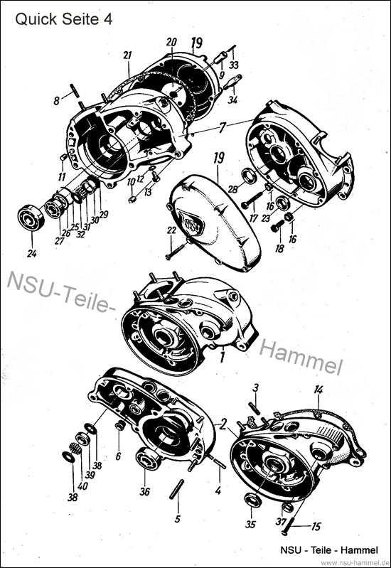 Kurbelgehäuse NSU Quick Original NSU Ersatzteileliste Seite 4