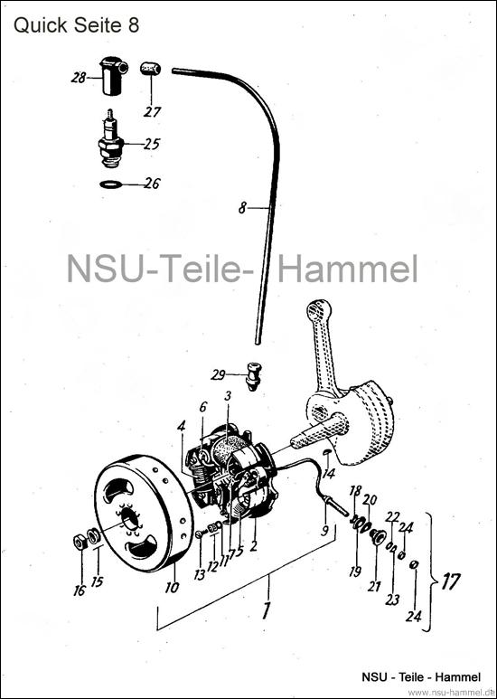 Elektrische Ausrüstung Bosch Vorkrieg Original NSU Ersatzteileliste Seite 8