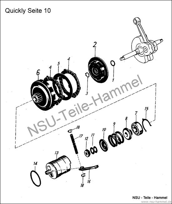 Quickly Original NSU Ersatzteileliste Seite 10