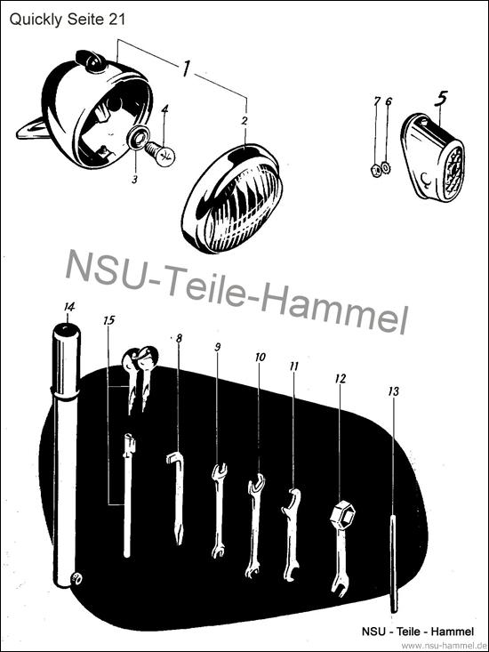 Quickly Original NSU Ersatzteileliste Seite 21