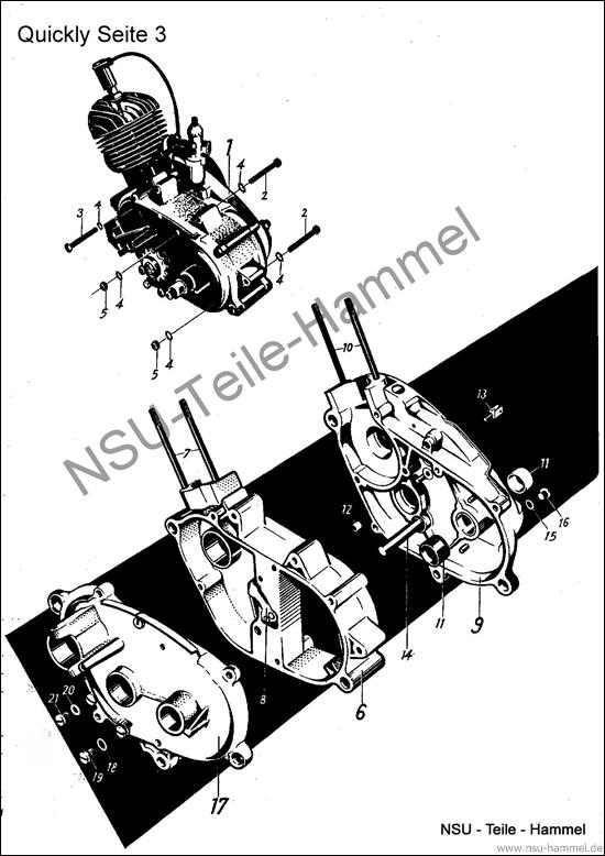 Quickly Original NSU Ersatzteileliste Seite 3