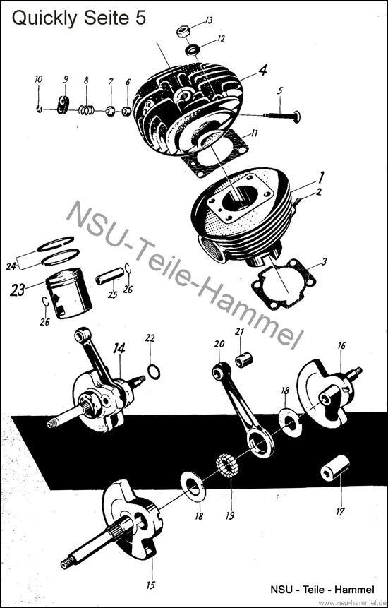 Quickly Original NSU Ersatzteileliste Seite 5