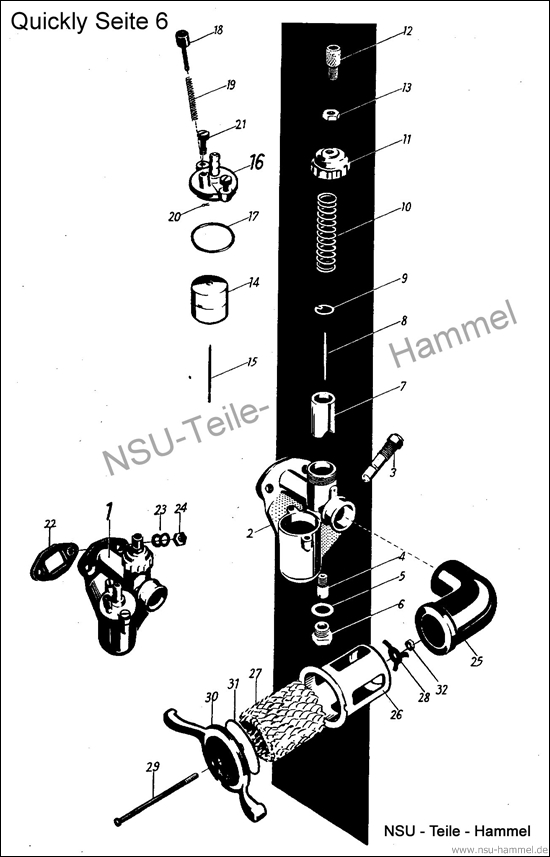 Quickly Original NSU Ersatzteileliste Seite 6