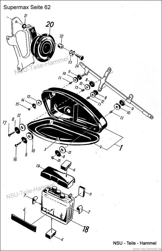Original NSU Ersatzteileliste Seite 62