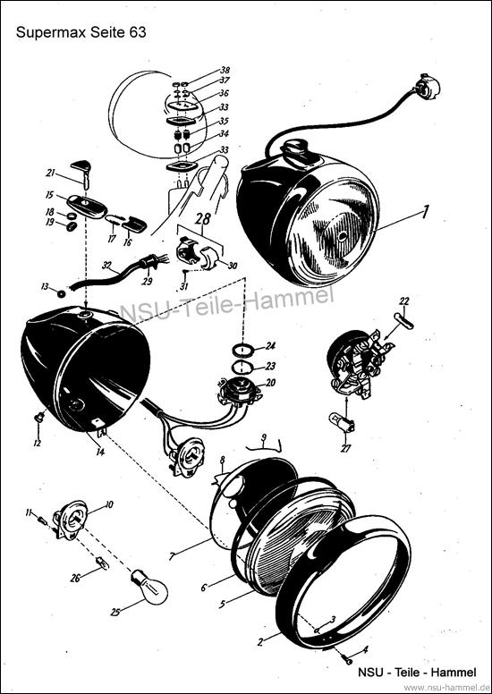 Original NSU Ersatzteileliste Seite 63