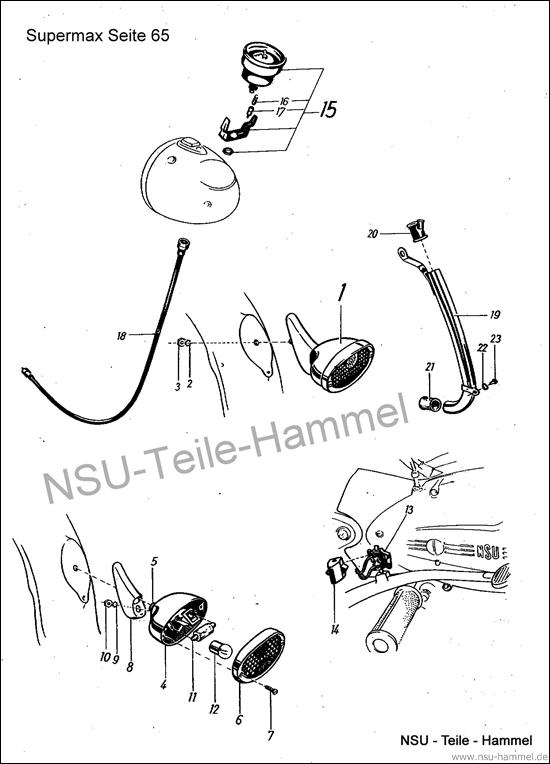 Original NSU Ersatzteileliste Seite 65