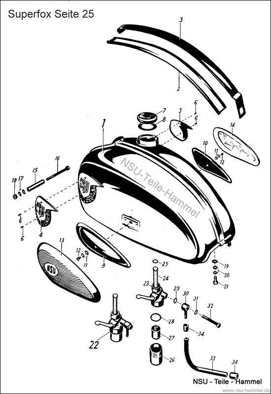 Superfox Original NSU Ersatzteileliste Seite 25