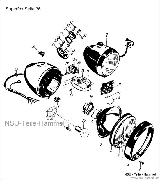 Superfox Original NSU Ersatzteileliste Seite 36