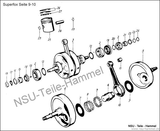 Superfox Original NSU Ersatzteileliste Seite 9-10